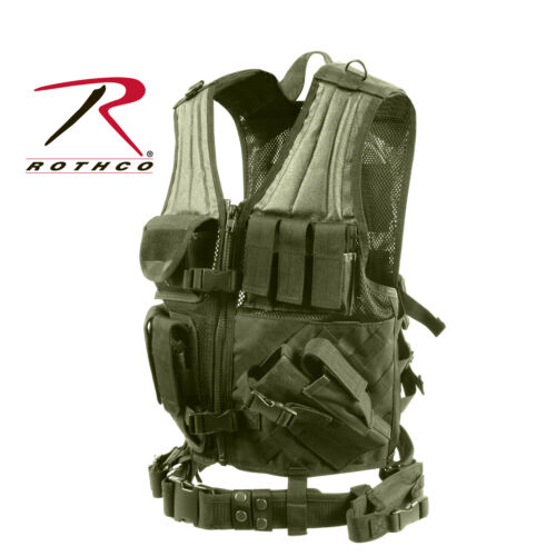 4591 OLIVE DRAB Details about  /ROTHCO CROSS DRAW MOLLE TACTICAL VEST