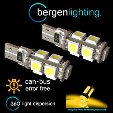 2X W5W T10 501 CANBUS ERROR FREE AMBER 9 LED SIDELIGHT SIDE LIGHT BULBS SL101701