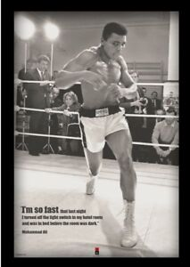 MUHAMMAD ALI FAST 13x19 FRAMED GELCOAT POSTER BOXING WORLD CHAMP ICON GREAT BEST