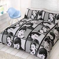 Hollywood Icons Duvet Cover Bed Set & Pillow Case Pop Art Bedding Marilyn Monroe