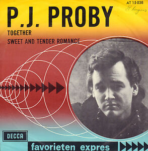 P-J-PROBY-Together-1964-FAVORIETEN-EXPRES-SINGLE-7-034-45-RARE-DUTCH-PS