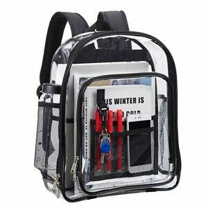 Details About Magicbags Transpa Backpack Pvc Clear See Through Bag For School Work Travel
