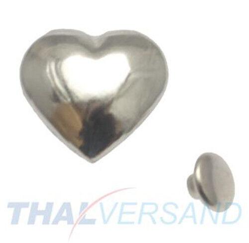 10 pièces rivets décoratifs Coeur Heart #401 motif rivets en cuir clouté zierniete motif rivets