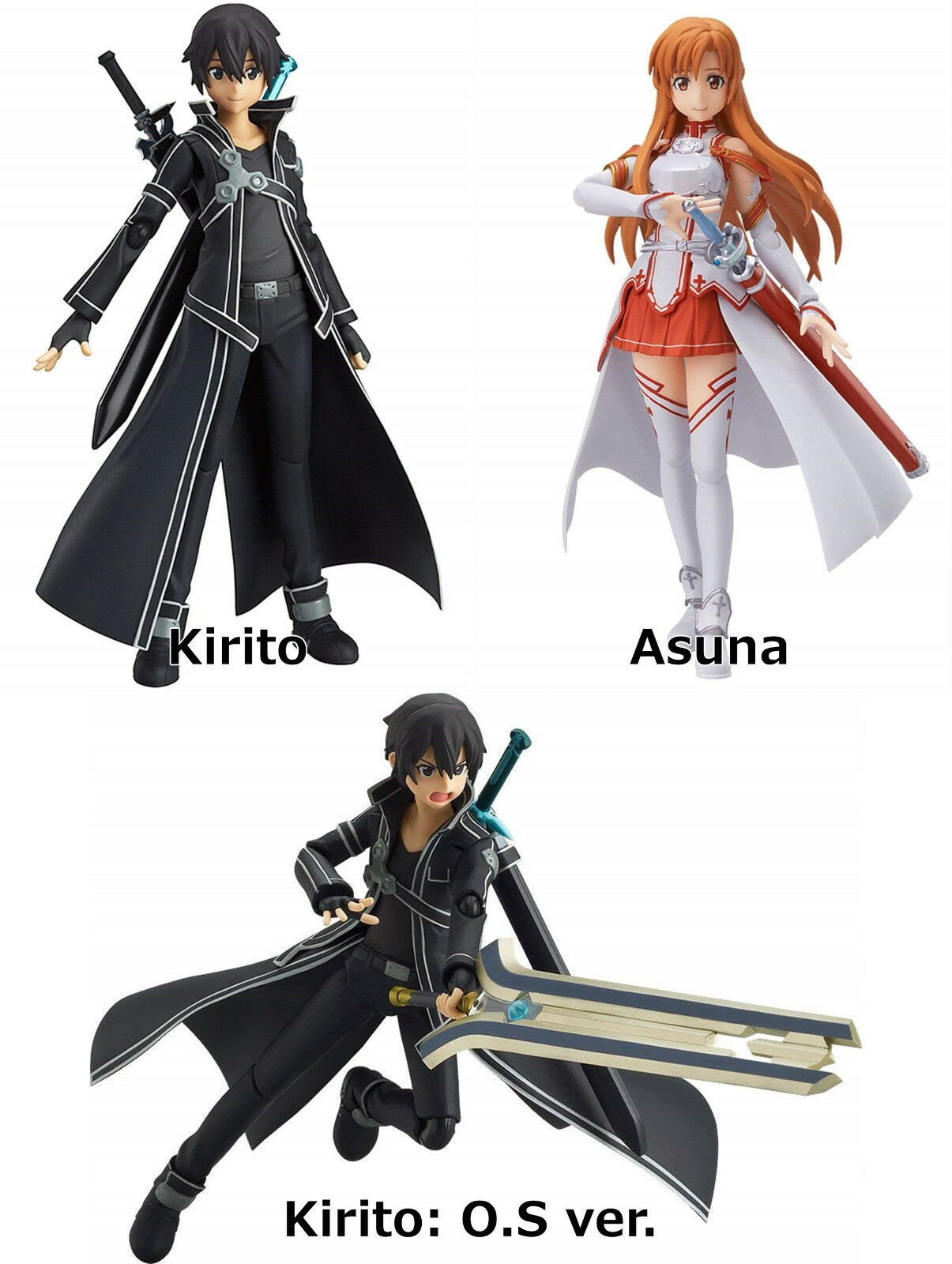 Figma Kirito Asuna from TV Anime Sword Art Online action figure Max Factory
