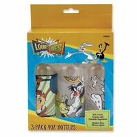 Looney Toons - Three 9oz Bottle Lot - Baby Shower - - Yellow