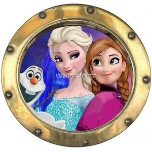 Sticker hublot Enfant La Reine des Neiges 9542-30x30cm