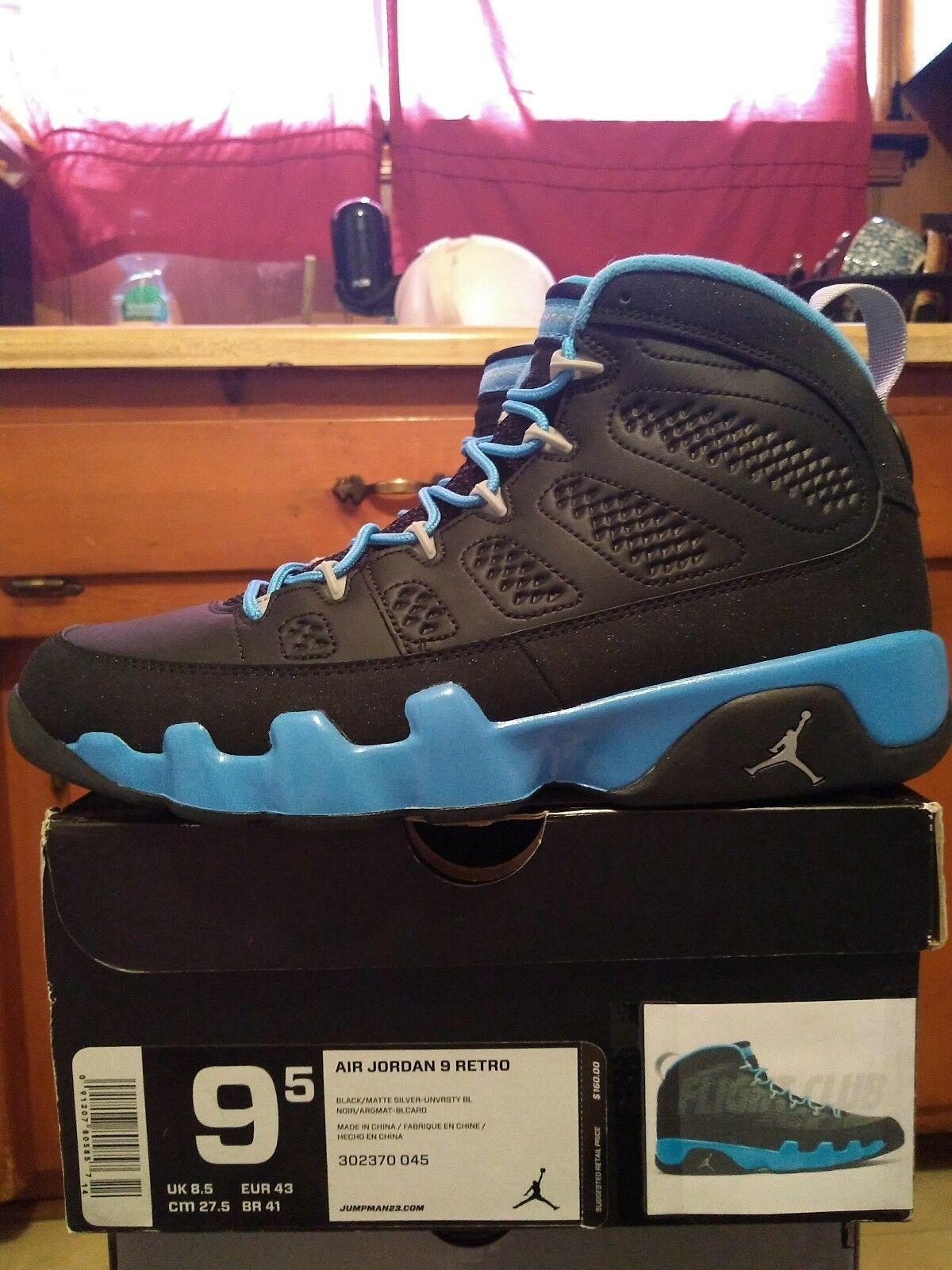 Jordan 9 Slim Jenkins Size 9.5 DS