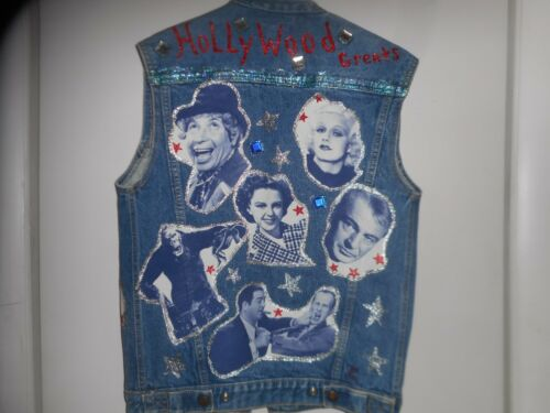 Stars Denim Vest Movie Retro Jacket Hollywood Jean 90s Diy Calvin Klein Dame ~ wnHrX7nxa
