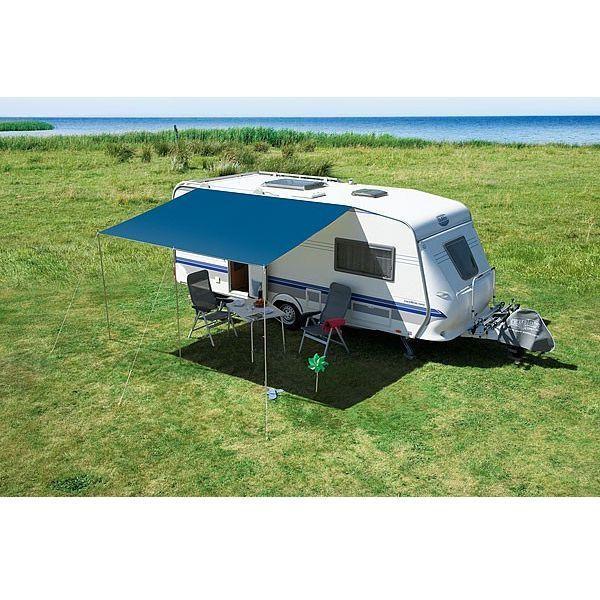 DWT Sonnendach Wohnwagen Flora 200x240 cm blau Vorzelt Camping Zelt