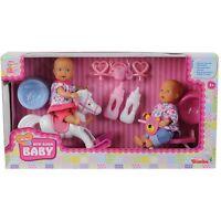 Simba Mini Born 2 Puppen Mit Schaukelpferd Dreirad Und Zubehör Neu