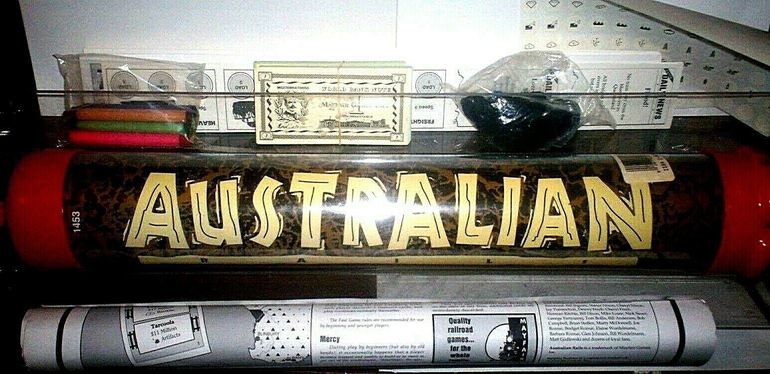 AUSTRALIAN RAILS tavola gioco 1994 MAYFAIR MAYFAIR MAYFAIR giocoS 1453 in Tube MINT Unplayed 8ed697