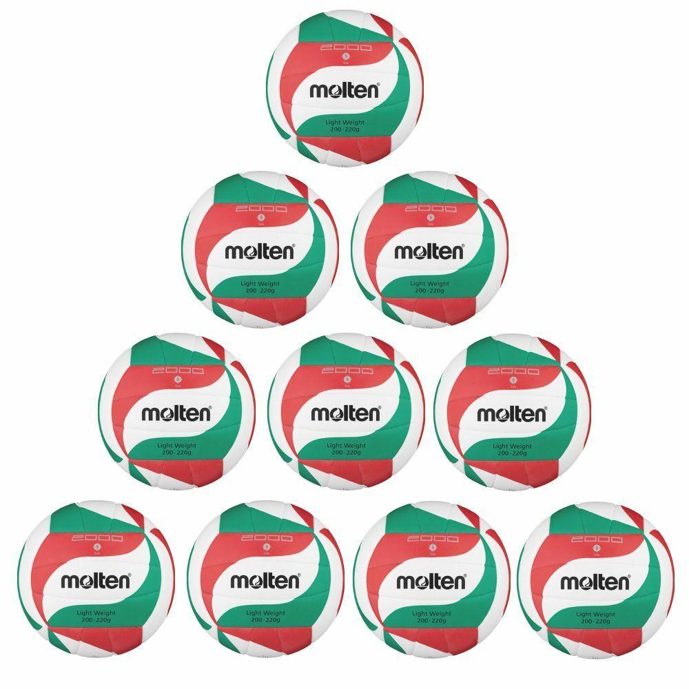 Molten Volleyball Volleyball Volleyball V5M2000-L Trainingsball 10er Paket weiß grün rot Größe 5  | Wir haben von unseren Kunden Lob erhalten.  | Nutzen Sie Materialien voll aus  a846b7