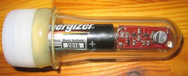 "geocaching ""Ewiger LED-Blinker"" ( für Nachtcache ) rot im Petling"