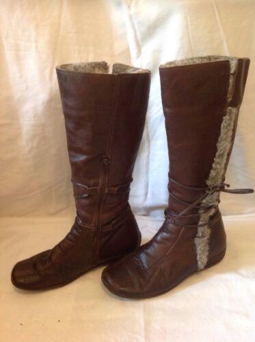 Bottes cuir 37 Country taille en mollet Studio mi Jack marron rPar5