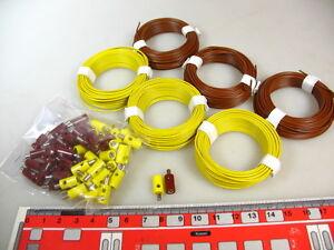 Konv-60-m-Litze-60-Stecker-gelb-braun-fuer-H0-Lampen-Q8-G4