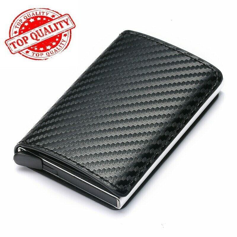 Wallet For Men Slim & Mini Leather Like Secrid 8-12Cards RFID Card Holder NEW