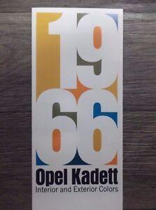 Original-Vintage-1966-Opel-Kadett-Deluxe-Sport-Coupe-Station-Wagon-Sedan