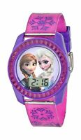 Disney Kids' Fzn3598 Frozen Anna And Elsa Digital Watch With Pu... Free Shipping