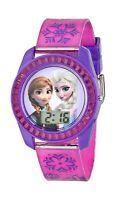 Disney Kids' Fzn3598 Frozen Anna And Elsa Digital Watch With Pu... Free Shipping