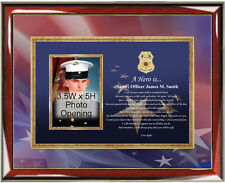 Law Enforcement Photo Plaque Police Sheriff Policeman Gift Picture Plaque Poetry