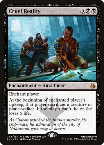 Cruel Reality Amonkhet NM Black Mythic Rare MAGIC THE GATHERING CARD ABUGames
