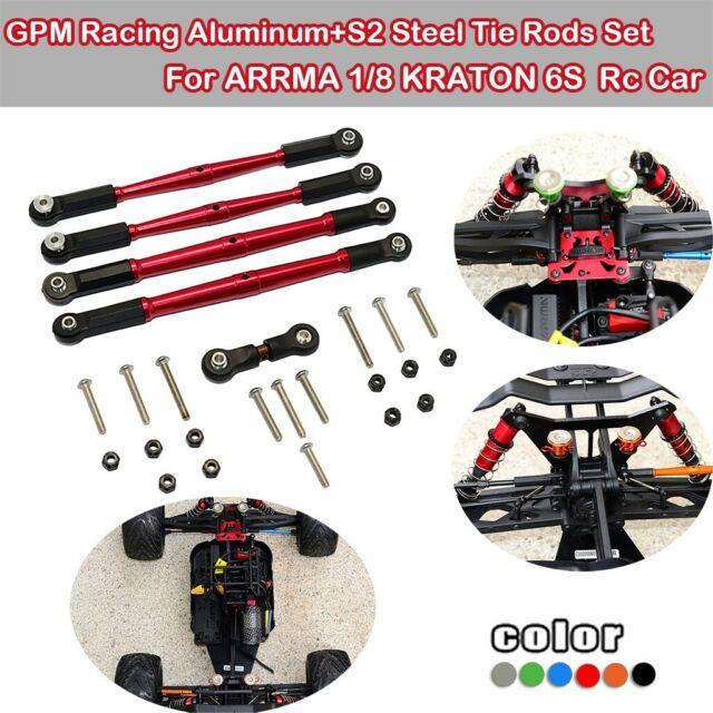 GPM Aluminum Tie Rods Set Black For  4-Tec 2.0 RC Cars #GT160-BK-BEBK