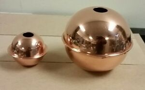 COPPER BALLS 2'' & 4'' well made polished for weathervanes / LIGHTENING RODS