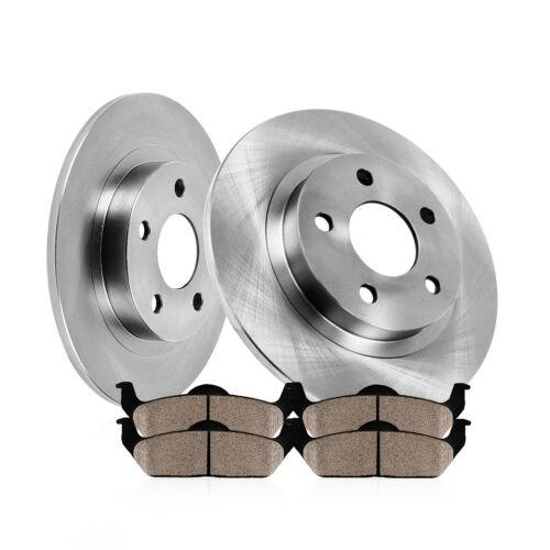 Rear Brake Disc Rotors Ceramic Pads For 2000 2001 2002 2003 2004 Toyota Avalon