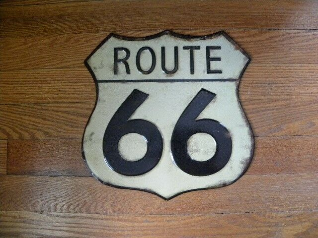 Route 66 Metal Wall Sign Garage Decor 10 x10 Fast Shipping