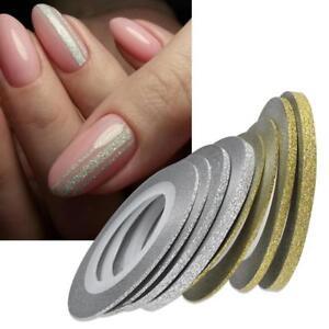 Image Is Loading Nail Art Glitter Strip Line Tape Design Diy