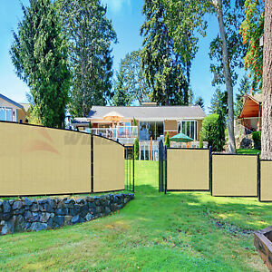 6-039-x50-039-Green-Black-Beige-Brown-Privacy-Fence-Windscreen-Yard-Garden-Fabric-Mesh