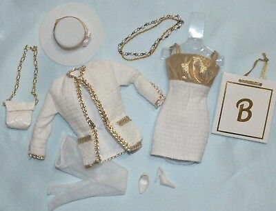 Barbie Cream Silk Linen Fashion Fits Silkstone ~ Newly Unboxed ~ Free U.S Ship