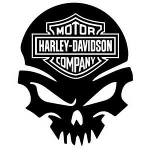 Harley Davidson Motorcycle Skull Logo Decal Sticker Car Truck Rear Window Bumper