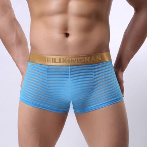Männer Durchsichtige Boxershorts Sheer Mesh Pouch Unterwäsche Höschen Dessous