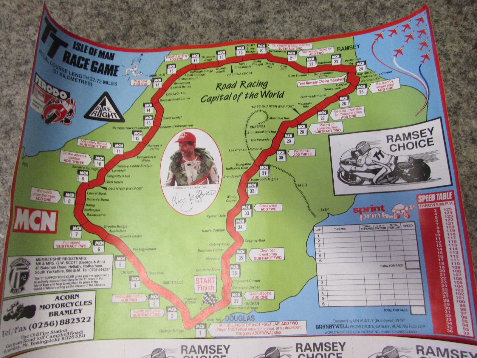 V.RARE 1979 IAN HUNTLY (BRANDYWELL) ISLE OF MAN TT TT TT RACE GAME ONLY SOLD AT TT RAC 913d9b