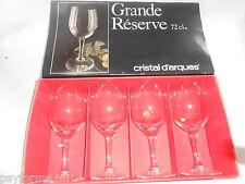 Coffret de 4 verres Grande Réserve CRISTAL D'ARQUES 72cl