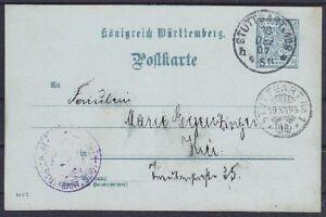 Württemberg Servicio DP32/14 Completo, Gel En Stuttgart 1907 Y Briefträgerst