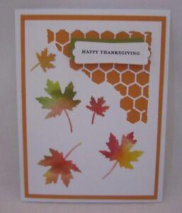 Image Is Loading Handmade Thanksgiving Card Maple Leaves Die Cut Blank