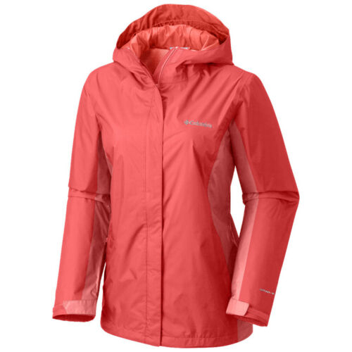 "New Womens Columbia /""Arcadia/"" Omni-Tech Waterproof Rain Wind Jacket"