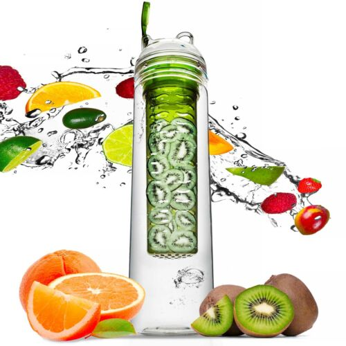Trinkflasche 0,8 L Früchteeinsatz Flasche Sagaform Sportflasche grün