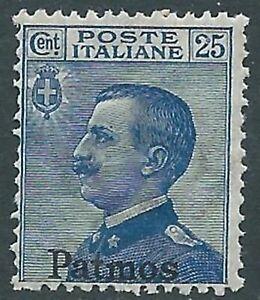 1912 Egeo Patmo Effigie 25 Cent Mnh ** - Ra3-9
