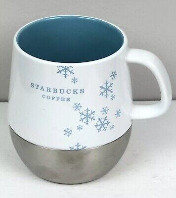 Starbucks 2007 Holiday Snowflake Blue 16 OZ Coffee Mug