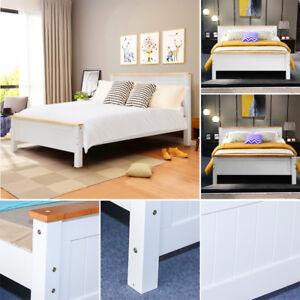 Wooden Bed Frame Bedframe 3ft 4ft6 5ft Large Medium Small Bed Child