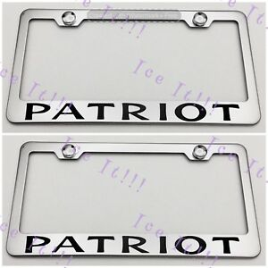 2X FORESTER Stainless Steel License Plate Frame Rust Free W// Caps