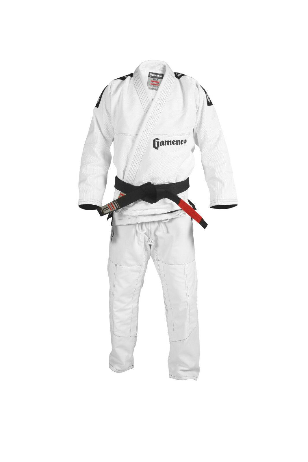 Gameness Pearl BJJ Gi White Brazilian Jiu Jitsu Gi Kimono Uniform