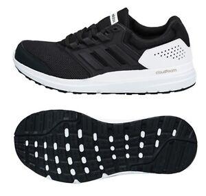 the best attitude fdbe4 aa60e La foto se está cargando Zapatos-De-Entrenamiento-Adidas-Hombres-Galaxy-4- Negro-