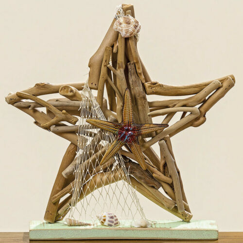 Dekoobjekt Aufsteller Seestern aus Treibholz 30cm