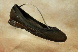 Cole-Haan-Brown-Suede-Leather-Slip-On-Ballet-Loafers-Flats-Shoes-Womens-Size-6B