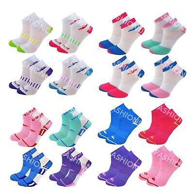 12 Pairs Ladies Trainer Sports Socks Liner Women  Girls Funky Designs Adults