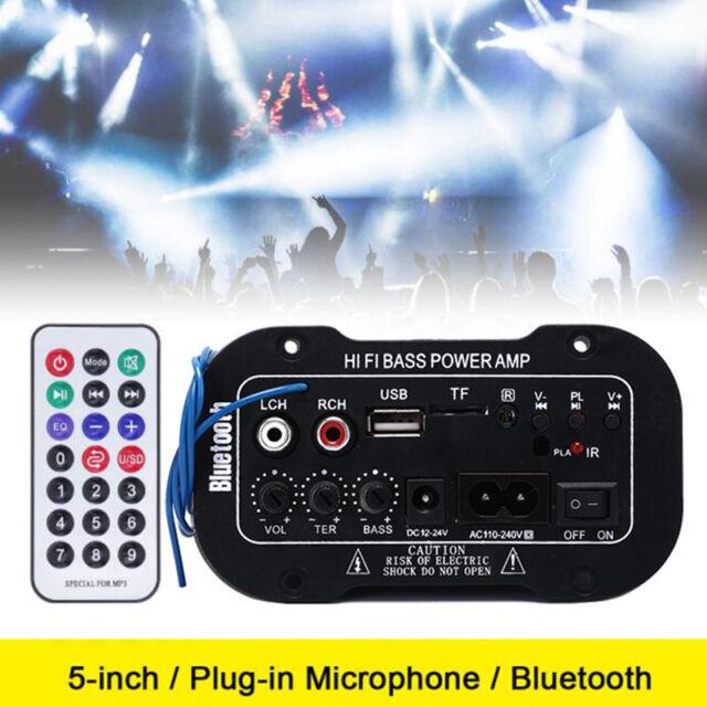 Auto Auto Bluetooth HiFi Bass Power Stereo Digitalverstärker AMP USB TF + Rem W